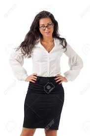 business blouses haired white blouse and black skirt dressed business