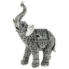 silver elephant statue beautifully detailed elephant ornament