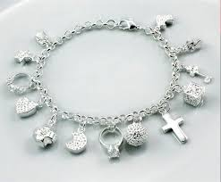 bracelet with charms images Silver charm bracelet silver jewelry silver jewelry online shop jpg
