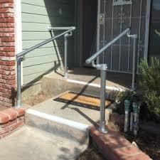 Steel Handrails For Steps Stair Handrail Kits For Your Garden House Entrance And Outdoor