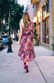 the perfect fall floral dress look lovely living