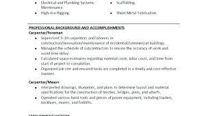 writing resume exles carpenter resume exles union carpenter resume sle professional