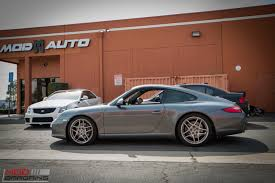 porsche 997 widebody 997 porsche carrera gets lowered on eibach springs