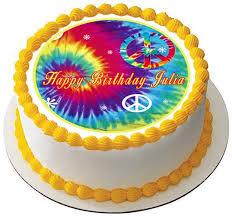 tie dye peace edible birthday cake or cupcake topper u2013 edible