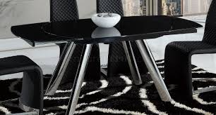 Global Furniture Dining Room Sets Dining Table By Global W Black Glass Top U0026 Optional Chairs