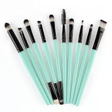 sea foam blue 10 pc set makeup brushes find it in the 7 00 collection free makeup applicationfoundation
