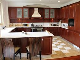 u shaped kitchen with peninsula floor to ceiling windows double