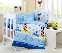 blue mickey mouse crib bedding cotton bedding