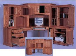 Solid Wood Corner Desk With Hutch Desk Cabot L Shaped Computer Desk With Hutch In Espresso Oak
