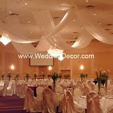 Colourful Ribbon Canopy Wedding Reception by Ceiling Canopies Draping For Weddings And Events Wedding Decor
