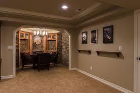 elegant ideas for finishing concrete basement walls applying