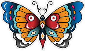 340 1 4 vintage decal butterfly sailor