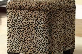 incredible ottoman cube leopard animal print ottoman custom built