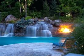 pools with waterfalls waterfalls for pool indoor pool featuring a waterfall that can be