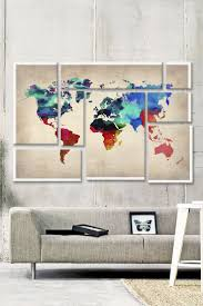 Canvas Map Of The World by 11 Best World Map Typography Images On Pinterest Canvas Prints