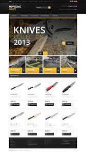 website design 46350 hunting knives shop custom website design