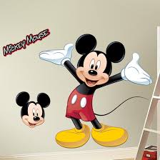 room mates mickey mouse wall decal reviews wayfair mickey mouse wall decal