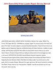 john deere 844j wheel loader repair service m by hortensia