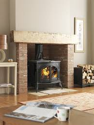 Wood Burning Fireplace by This Woodburning Stove Instead Of A Fireplace Man Room