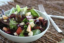 Garden Salad Ideas Mix Salad With Apples Cranberries And Feta