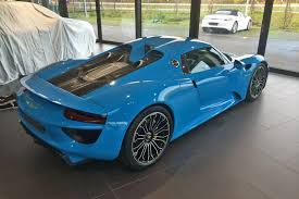 porsche dark green blue sets off porsche 918 spyder very nicely