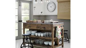 crate and barrel kitchen island turner black adjustable backless bar stools and linen cushion
