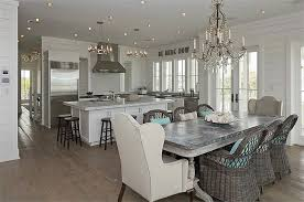 White Washed Kitchen Table by Kitchen Zinc Dining Table Design Ideas