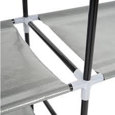 schuhregal 58 cm breit regal schuhregal faltschrank campingschrank stoffschrank