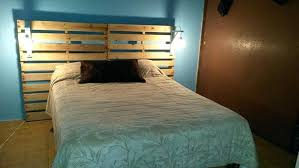 Pallet Wood Headboard Diy Wooden Headboard With Lights Glassnyc Co
