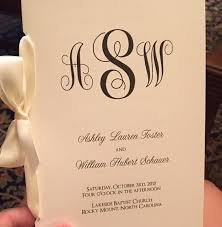 classic wedding programs classic monogram design bi fold 5x7 folded wedding programs