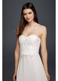 strapless bustier for wedding dress strapless beaded lace corset top david s bridal