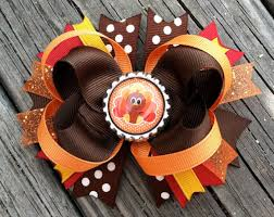 thanksgiving hair bows thanksgiving turkey hair bow boutique style fall autumn