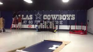dallas cowboys wall mural youtube