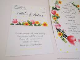Wedding Registry Cards For Invitations Classic Wedding Invitations Springtime Splendour Floral Wedding