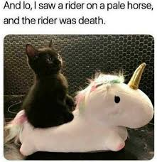 Meme Saw - and lo i saw a rider on a pale horse and the rider was death