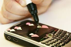 cell phone decoration with nail art pens hearts style nails