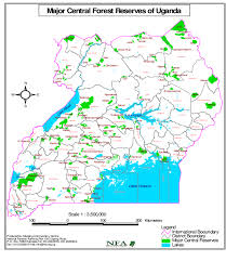 Mail Map Map Of Uganda Showing Forestry Reserves Managed By The Nfa In