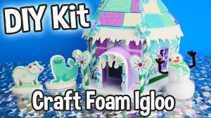 diy kids craft foam igloo miniature dollhouse kit cute easy