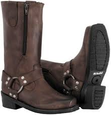 womens brown leather motorcycle boots 179 95 river road womens zipper harness leather boots 249751