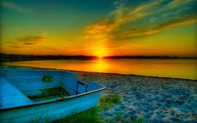 beach rays sunset lovely ocean nature beautiful view colors