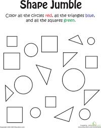 printable shapes worksheet worksheets