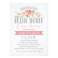 bridal shower luncheon invitations bridal luncheon invitations announcements zazzle