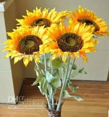 silk sunflowers single sunflower high simulation flower floor artificial silk
