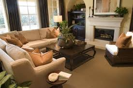 Comfortable Beige Sectional Sofa Set For Beautiful Family Room - Comfortable family room