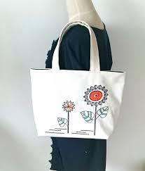 tabliers de cuisine personnalis駸 向日葵のトートバッグ 手刺繍 ビーズ