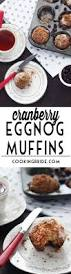 cranberry eggnog christmas muffins recipe streusel topping