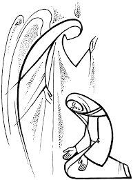 annunciation and visitation coloring pages