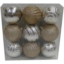 buy time gold and silver shatterproof ornaments
