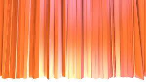Pink And Orange Curtains Abstract Simple Pink Orange Low Poly 3d Curtains As Cg Background