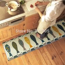 tapis pour cuisine tapis pour cuisine trois piaces poissons cuisine tapis molleton